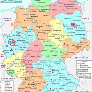 deutschlandkarte bundesländer Wie viele Bundesländer hat die Bundesrepublik Deutschland? deutschlandkarte bundesländer