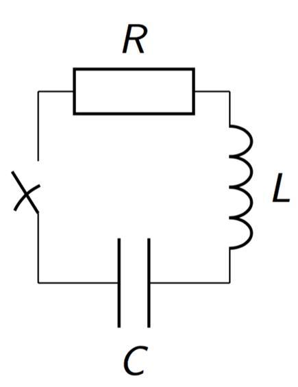 Welcher Zeitfunktion folgt der Strom in der Schaltung im Bild, wenn ...